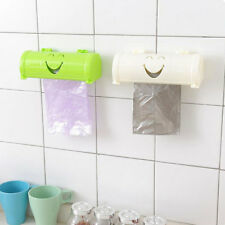 KE_ Kitchen Wall Self Sticky Smile Face Garbage Bag Receiving Box Container Ut