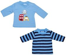 Baby Boy T Shirts Tops 2 PIECE SET Cars Stripes Newborn to 6 Months