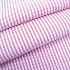 Candy 3mm Woven Chambray Stripe - Red - Cotton Blend Fabric Dressmaking Patchwor