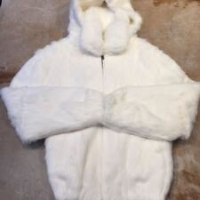 Winter Fur Men's White Rabbit Fur Bomber Jacket