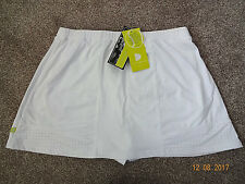 Pure Lime Tennis sports skirt/short sizes 10/12  16/18 White stretch BNWT
