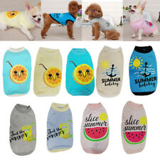 Summer Pet Dog Puppy Cat Clothes Cotton Vest T Shirt Tops Pet Apparel