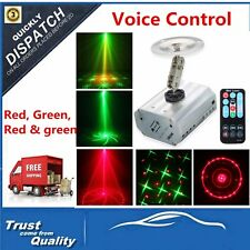 LED Laser Projector Red & Green Stage Light Pattern Voice-control DJ Party BS