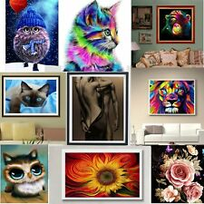 5D DIY Diamond Painting Flower Peacock Embroidery Cross Crafts Stitch OZB