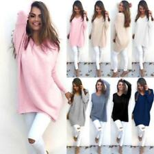 Casual Loose Long Sleeve Sweater Womens Knitwear Pullover Jumper Tops LOT BN
