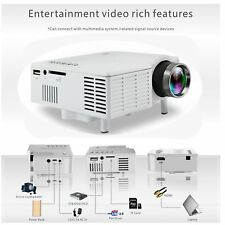 UC28B Mini HD LCD Projector Home Theater Cinema 1080P USB SD Multimedia C9