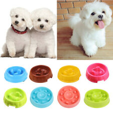 Dog Slow Down Eating Feeder Dish Pet Dog Cat Feeding Food Bowl Multi-colored
