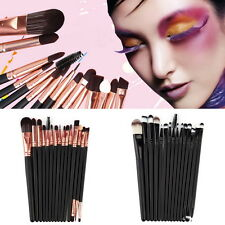 15Pcs/Set Make Up Brushes Kit Eyeshadow Eyeliner Mascara Eye Brush Tools j~