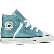 Converse Chuck Taylor All Star Glitter Hi Bleached Aqua Synthetic Baby