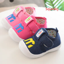 Cute Spring Toddler Babys Squeaky Infant Shoes Baby Boy Girl Soft Walking Shoes