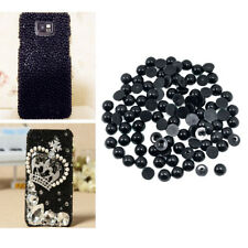Assorted Sizes Black Half-round Flatback Pearl for DIY Nail Art Phone Case Craft