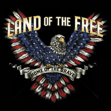 Land Of The Free USA American Eagle Flag Red White & Blue Patriotic T-Shirt Tee