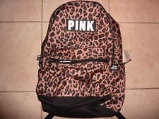 VICTORIAS SECRET PINK NEW CAMPUS LEOPARD LARGE BACKPACK ZIP BOOK LAPTOP NWT