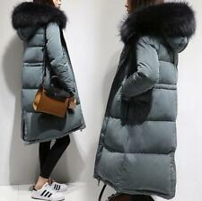 New Womens Winter Warm Duck Down Coat Fur Collar Hooded Jackets Outerwear Parka