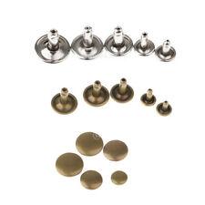 100 Set Leather Rivets Double Cap Rivets Metal Studs for Leather Craft Repairing