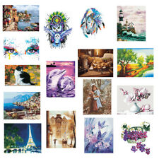 DIY Paint By Numbers Kit Canvas Painting Wall Art Hanging Oil Picture Poster