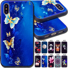 For Apple Xiaomi Phone Painted TPU Embossing Back Cover Silicone Soft Case Skin