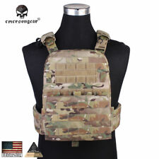 EMERSON Tactical Vest Airsoft Plate Carrier Molle CP AVS Heavy Version Duty Gear