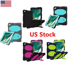 US New Apple iPad 9.7'' Case Full Body Protective Shockproof Kickstand Silicone