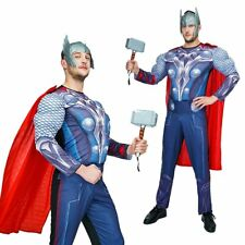THE AVENGERS THOR MUSCLE SUPER HERO ADULTS MENS FANCY DRESS HALLOWEEN COSTUME