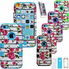 Shockproof Silicone Rubber Armor Slim Protective Case Cover For Apple iPhone 5C