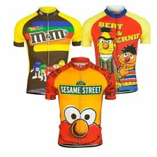 Men's funny black yellow red cycling short sleeve cycling jersey