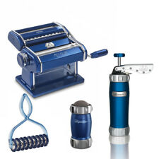 MARCATO Atlas 150 Color Home-made Pasta Machine + 3 Accessory Biscuits,Pastabike