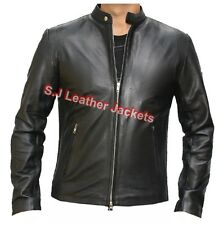 Men's Black Strike Real Leather Fashion High Quality Stylish Jacket