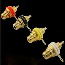 RCA Female Socket Connector Chassis Panel Mount Adapter for Amplifier Audio