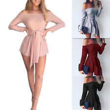 Elegant Fashion New Rompers Autumn Strapless Pants Jumpsuit Long Sleeve Women