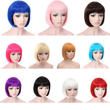 Women Gril Sexy Full Bangs Wig Short Wig Straight BOB Hair Cosplay Party Fashion