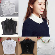 Women Detachable Fake Collar Half Shirt Peter Pan False Choker Bib Cotton
