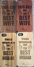 iPhone cases for couples (2 Wood Cases) iPhone X, 10,8. 8+ 7, 7+, 6, 6+