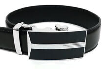 Mens Genuine Leather Sliding Automatic Buckle Ratchet Belt  MGLBB18