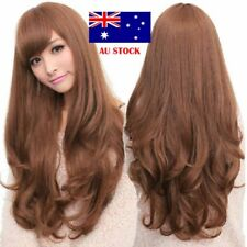 Women Fashion Cosplay Party Wig Synthetic Long Black Brown Wavy Curly Hair Wigs