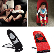 Cotton/Mesh Baby Bouncer Balance Soft Infant Rocker Chair Black/Red Balance New