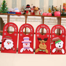 KE_ Lovely Xmas Santa Claus Snowman Moose Bear Christmas Door Hanger Decor Rel