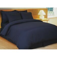 1000TC SOFT EGYPTIAN COTTON ALL HOME BED LINENS UK SIZES NAVY BLUE STRIPED