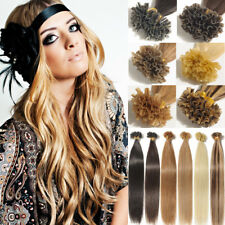 7A 100S Remy Indian Nail/ U Tip Hair Extensions 100% Real Human Hair 50g Keratin