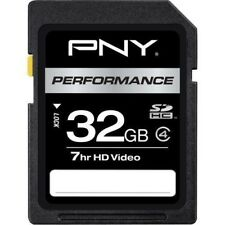 PNY 32 GB Class 4 SDHC Flash Memory Card P-SDHC32G4-EF