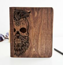 Notebook Cover Diary Sketchbook Journal Unique Notepad Personalized Skull