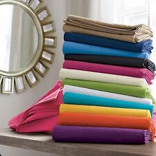 1000TC Egyptian Cotton 5 PC Duvet Cover Set King/Cal-King Size New Solid Colors