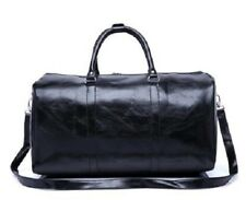 Genuine Leather Travel Bag Duffel Handbag Shoulder Luggage Men Women Satchel