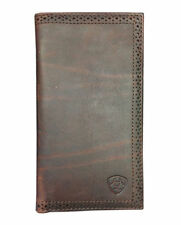Ariat Brown Perforated Edge Rodeo Wallet A35126283