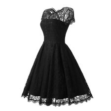 Womens Vintage O Neck Slim Pin up Rockabilly Vestidos Lace Dress chs sz/clr