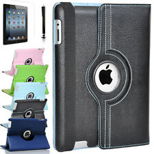 "360 Rotating PU Leather Stand Smart Wake Sleep Cover Case for New iPad 9.7"" 2017"