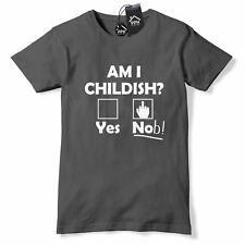 Am I Childish? T Shirt Funny Rude Joke Fathers Day Dads Gift Present Mens 512