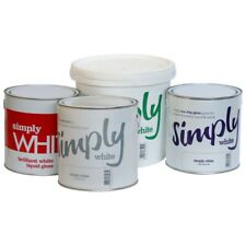 SIMPLY WHITE PAINTS UNDERCOAT NON DRIP GLOSS Liquid Gloss Emulsion