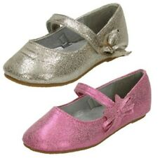 Girls Cutie Slip On Flat Ballerina Shoes with Bow Detail