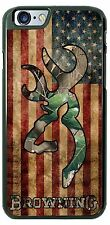 Browning US Flag Camo Custom Phone Case Cover Fits iPhone Samsung Moto LG